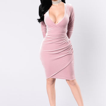 Meet Me Westside Dress - Mauve
