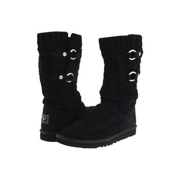 Ugg Boots Black Friday Deals Knit Tularosa Route Cable 3177 Black For Women 96 86