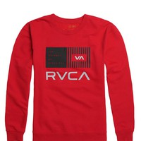 RVCA Balance Bars Crew Fleece - Mens Hoodie - Red