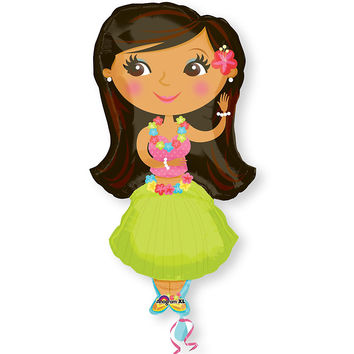 Hula Girl - Everyday Party Mylar Balloon