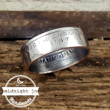 North Carolina State Quarter Coin Ring