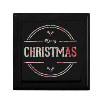 Merry Christmas Greeting Jewelry Box