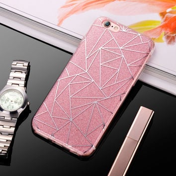 Jazzy Glitter Soft Phone case for 6S 7 Plus 5S SE