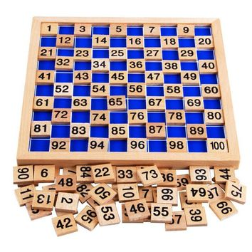Educational Wood Montessori Mathematics Teaching Board Toy