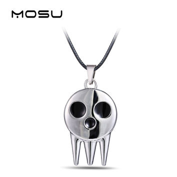 MOSU Hot Anime Soul Eater Metal Necklace the Kid's Collar Skull Logo Pendant Cosplay Accessories Jewelry can Drop-shipping