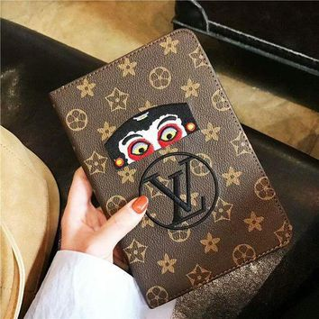 LV Supreme Fashion New 2018 ipad Case Apple ipad Air2 Tablet Case Cute Cartoon Protect Shell I-OF-SJK