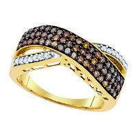 Diamond Fashion Ring in 10k Gold 0.7 ctw