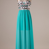 Sequin Maxi Dress - Mint