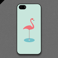 iPhone 5 case  Single flamingo  also available in by evoncase