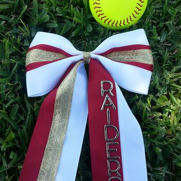 Cheer bow personalized