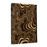 Cool brown stripped fractal. iPad case