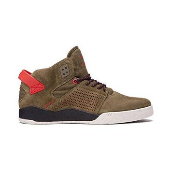Supra Mens Skytop III Olive Riskred Shoes Size