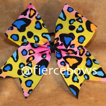 Summer Cheetah in Yellow Cheer Bow
