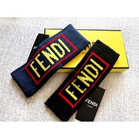 Fendi tide brand men and women double F letter jacquard letters casual sports hair band