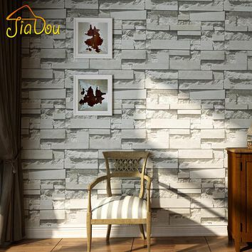 Modern 3D Stone Brick Wall Non-woven Wallpaper Roll Living Room Bedroom Background Wall Decor Art Wall Paper Papel De Parede 3D