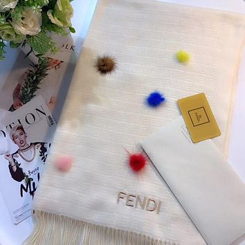 FENDI Women Fashion Wool Scarf Shawl Scarf Scarves