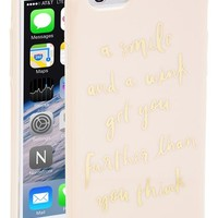 Women's kate spade new york 'a smile and a wink' iPhone 6 case - Pink