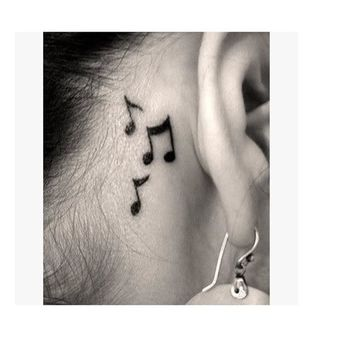 24 designs Waterproof Temporary Tattoo sticker ear music note birds henna tatto stickers flash tatoo fake tattoos for women men