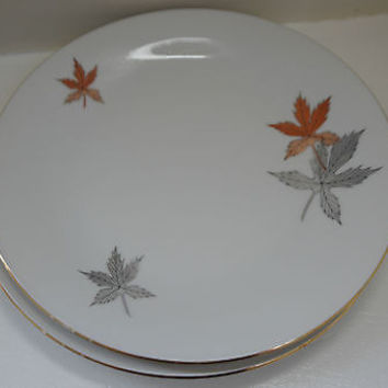 Vintage Bavaria German Fine China Fall Leaf Salad Plate Collection