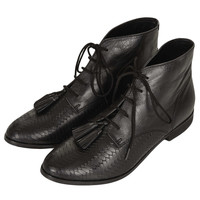 MO Woven Vamp Tassle Boots - New In This Week - New In - Topshop USA