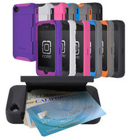 Incipio IPH-677 iPhone 4/4S Stowaway Credit Card Hard Shell Case & Silicone Core