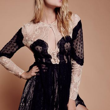 Free People Beatrix Lace Mini Dress