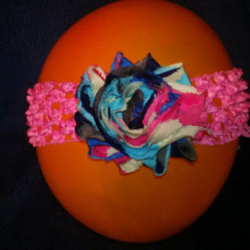 All Sizes Crochet Headband with removable hair clip flower, 004