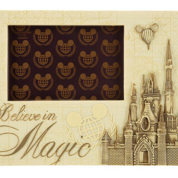 Disney Parks Believe in Magic Castle 4x6 Resin Photo Picture Frame New