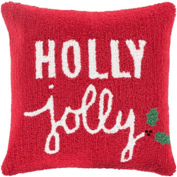Holiday Holly Jolly Pillow
