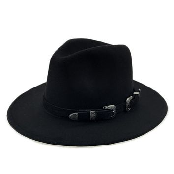 Wool Field Hat With Steel Buckles
