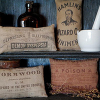 Antique Apothecary Jar Labels Halloween Cupboard by redroosterbab