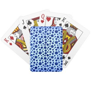 Blurry Blue Dots Playing Cards