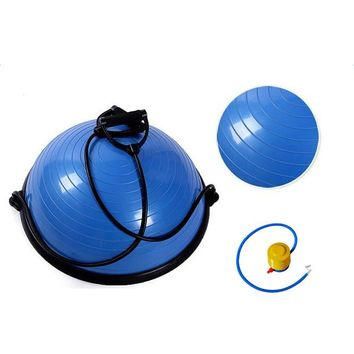 "Yoga Exercise Balance Trainer Ball with Strings & Pump (23"" 58cm)"