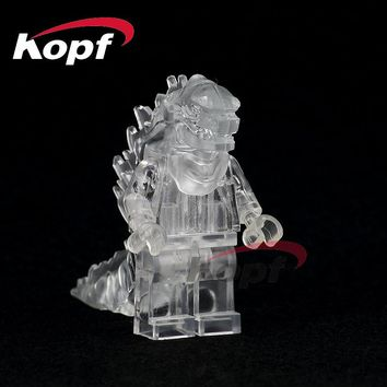 Building Blocks Single Sale American Science Fiction Monster Movie Super Heroes Lava Crystal Godzilla Toys for children PG0001