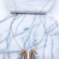 Multi Bar Pendant Necklace