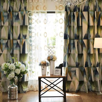 Drapes with Green Geometry Dream