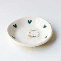 Love Ring Dish in Teal