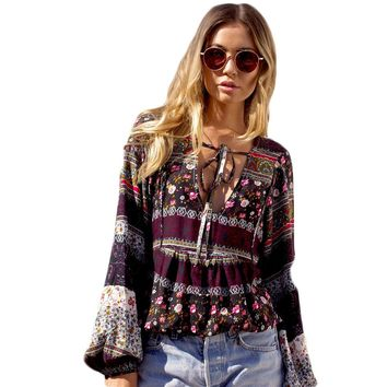 Tassel Bow Womens Tops And Blouses Lady Woman Blouse Ethnic Fashion 2017 Summer Shirt Women