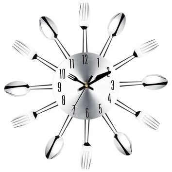 unbelievable high quality large wall clock stainless steel kitchen wall watch quality quartz needle 3d clock home decor