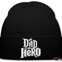 DAD IS MY HERO beanie knit hat