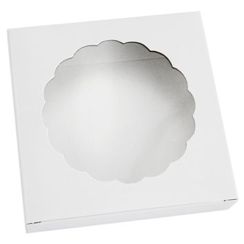 White Round Window Cookie Box