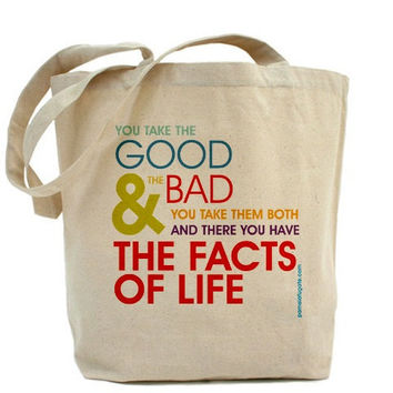 The Facts Of Life - Canvas Tote Bag - Classic Shopper - FREE SHIPPING