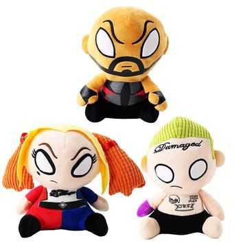 20cm Hot Movie Suicide Squad Toys Cool Harley Quinn Deadshot Jocker Soft Stuffed Plush Dolls Best Christmas Gifts