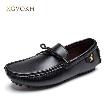 Men Casual Shoes Leather Handmade Flats Slip On superstar Man Driver Moccasins Shoes