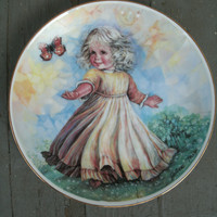 1982 Sunny Day - Plate By JoAnne Mix - signed on front,