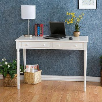 Highland 2-drawer White Writing Desk | Overstock.com