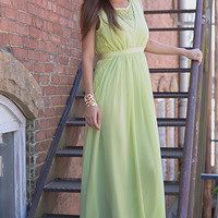 The Grecian Dress, Lime