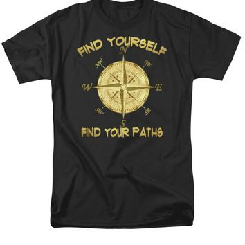 Find Yourself Find Your Paths Men's T-Shirt (Regular Fit)