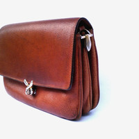 Vintage leather purse bag women brown leather accessory bag crossbody bag leather messenger bag shoulder bag tote iPhone bag gift for woman