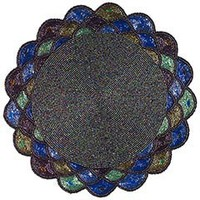 Pier 1 Imports - Product Details - Teal Beaded & Scalloped Placemat